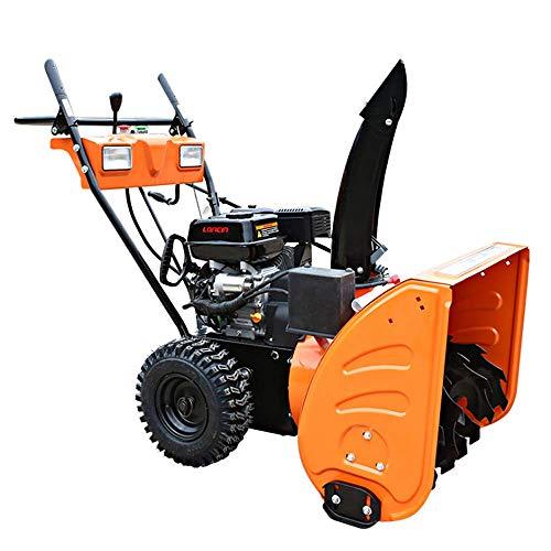 VANLAMP Schneefräse, Benzin Kleine Schneeschieber Maschine mit Reifenschnee und Beleuchtung für Fahrbahn 6.5 PS 4.8 KW,6.5hp