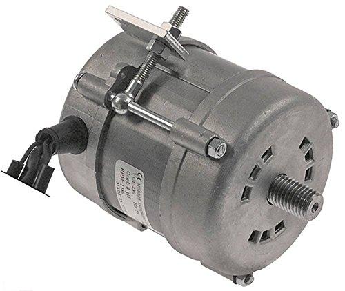 Motor 230V 0,2 PS 1400U/min 50Hz Welle ø 15mm 1 -phasig Höhe 103mm ø 93mm 8 µF Loch ø 6mm Welle 22mm -