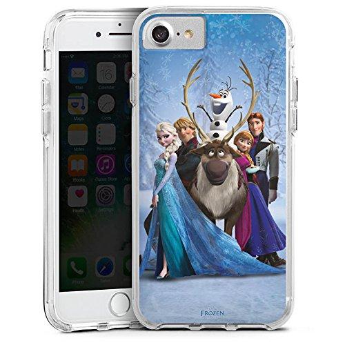 Apple iPhone 6 Bumper Hülle Bumper Case Glitzer Hülle Disney Frozen Geschenke Fanartikel Bumper Case transparent