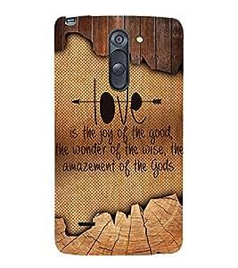Enjoy The Love 3D Hard Polycarbonate Designer Back Case Cover for LG G3 Stylus :: LG G3 Stylus D690N :: LG G3 Stylus D690