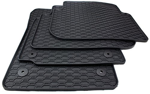 NUEVO. Volkswagen Auto goma alfombras Touran 1T felpudos goma Touran Cross Original Calidad 4x Alfombrillas Impresión botón redondo