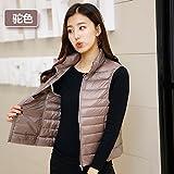 GK-Down jacket vest gilet mince d'automne et d'hiver?Camel?XXL