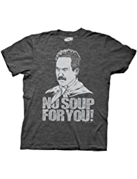 Ripple Junction Seinfeld Soup Nazi No Soup For You Charcoal Gray T-Shirt