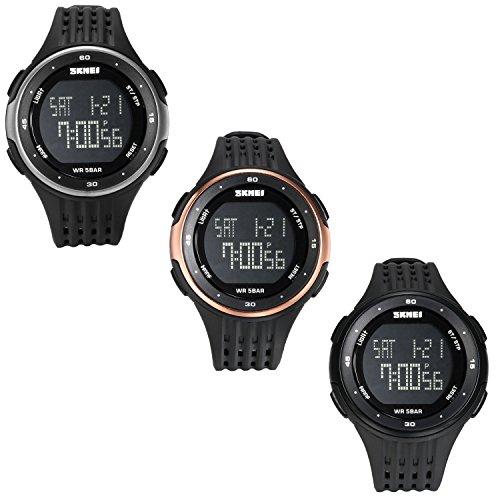Lancardo Reloj Deportivo Digital Dual Tiempo Multifunciones