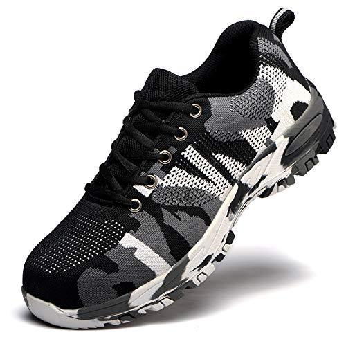 Rabatt-fliesen (Leobtain Soldat Walking Men Klettern Schuhe Atmungsaktiv rutschfest Berg Laufen Wandern Sicherheit Sneaker)