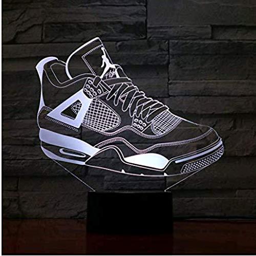 Jordan Retro 4 Schuhe Basketball Lampe Nacht Dekor 3D Illusion Touch Sensor Jungen Kinder Geschenk Led Nachtlicht Air Jordan 4 Turnschuhe - Iv-basketball-schuhe