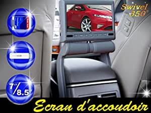 """Ecran d'accoudoir 8.5"""" lecteur DVD/MP4/USB/SD avec FM et IR"""