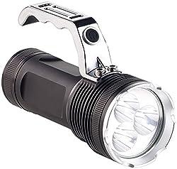 KryoLights Taschenlampe: LED-Handstrahler mit 3 Cree-LEDs & Akku, Alu-Gehäuse, 2.300 lm, IP54 (LED Taschenlampen)