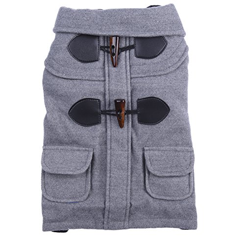 Capa Caliente, Chaqueta del perro, ropa para perros de invierno para perros pequeños chaqueta de la capa del perro Gris S / M / L / XL /