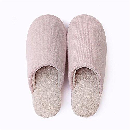 YMFIE Home Inverno cotone pantofole signori uomini indoor piano casa gli amanti di antislittamento caldo scarpe pantofole A