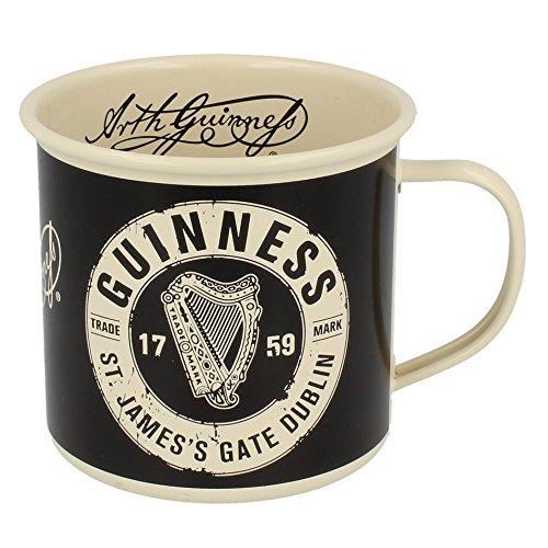 Guinness Label Cream Enamel Mug