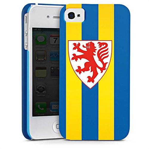 Apple iPhone X Silikon Hülle Case Schutzhülle Eintracht Braunschweig Fanartikel BTSV Premium Case glänzend