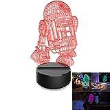 Bescita Eiffelturm Licht, Optische 3D-Illusion, LED Schreibtisch Tisch Nachtlicht, 7 Farben, USB-Nachtlicht | Kreatives Design Dekoratives Licht | 3D Pädagogische Spielzeug, Kind Geschenk (E)