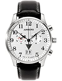 Junkers Herren-Armbanduhr XL Iron Annie JU52 Chronograph Quarz Leder 66861