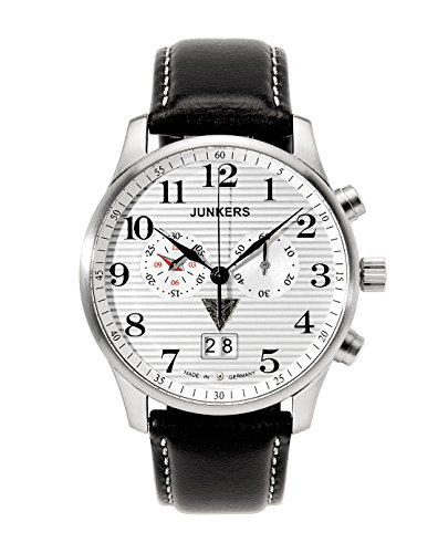 Junkers Men's Iron Annie Ju52 Chronograph Watch 6686-1 With Corrugated Dial