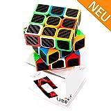 CUBIXS® 3x3 Zauberwürfel mit Carbon-Sticker - Hochwertiger Speed-Cube mit optimierten Eigenschaften für Speed-Cubing - für Anfänger und Fortgeschrittene
