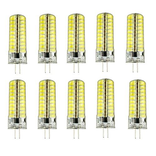 RUGGUANG LIGHTS Ampoules, Ampoules domestiques, Dimmable G9 / E12 / G4 / BA15D 7W 80 SMD 5730 450 LM Blanc Chaud/Cool Ampoule LED Blanche AC100-130V 10Pcs Ampoules (Couleur : Blanc Neige, Forme : G5)