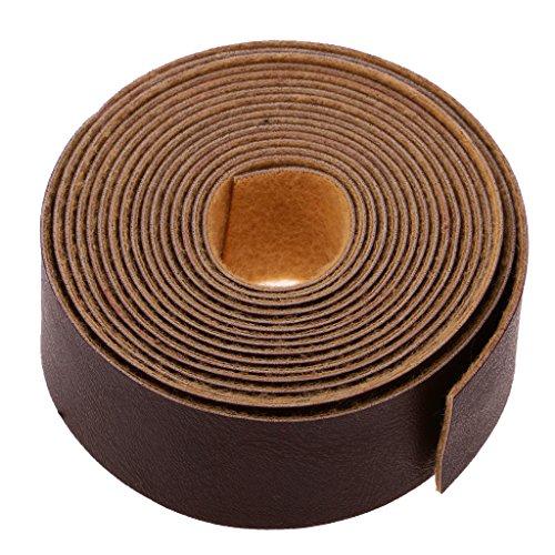 Homyl 10 Meter Flach Lederband Lederriemen Schulterriemen Schultergurt Riemen Gurt für Damen Taschen - dunkel kaffee, one size