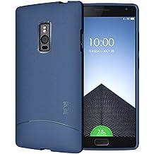 OnePlus Two Funda, TUDIA ultra delgado Mate Completa ARCH TPU caso de parachoques de protección Funda Carcasas para OnePlus Two / OnePlus 2 (Azul)