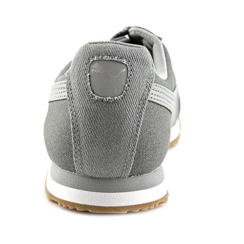 Puma Roma Waxed Denim Toile Baskets Limestone Gray-Puma Silver