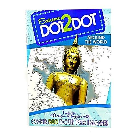 adultes anti-stress célèbre personnes Extreme Dot To Dot coloriage puzzle Book bleu