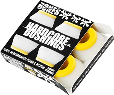 Bones Wheels Bushings 91A Hardcore Set, Weiß, 2.3 x 1.5 x 2.3, 150281
