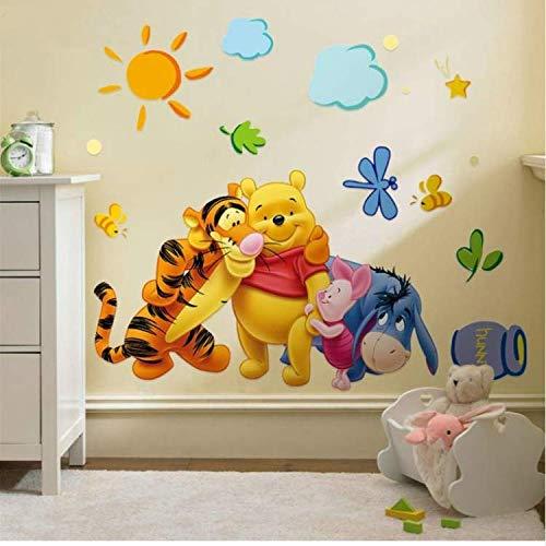 Winnie The Pooh Freunde Wandaufkleber Für Kinderzimmerdekorative Aufkleber Abnehmbare PVC Wandtattoo (Pooh Stein)
