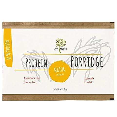 Provista Protein Porridge - High Protein (61%) - Low Carb - Glutenfree - 10 x 25g