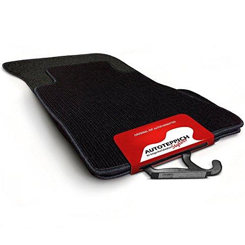 Autoteppich-Stylers RIPS000940 Passform Fußmatten im RIPS-Design schwarz und Rand schwarz (1985 Supra)