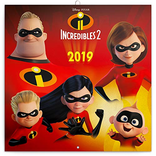 Die Unglaublichen 2 Wandkalender 2019 - The Incredibles 2 Kalender für Kinder 30x30cm - inklusive Memo-Spiel