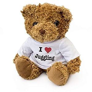 London Teddy Bears Oso de Peluche con Texto en inglés I Love jumgging, Suave y Bonito, Regalo de cumpleaños o Navidad
