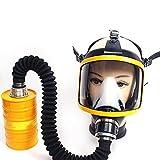 Funwill Mft2 Atemschutzmasken Gasmaske mit AußEnfilter und Schlauch, GroßE Fenstergasmaske Vollmaske Isoliert für Eine Vielzahl Von Schädlichen Chemischen Gasen, auch Direkt Externer Filter ohne Schlauch (7 # Gelb)