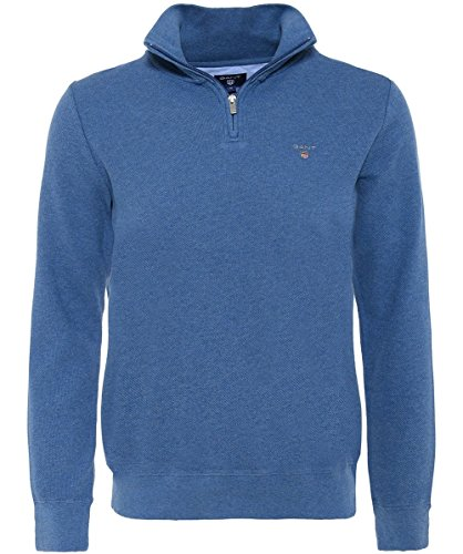Gant Men's Pique Cotton Half-Zip Jumper Denim