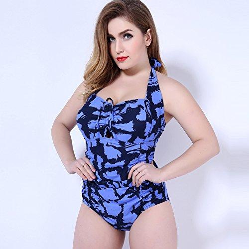 Mme summer maillot de bain, grande et gros réciter son maillot capture-YU&XIN Blue