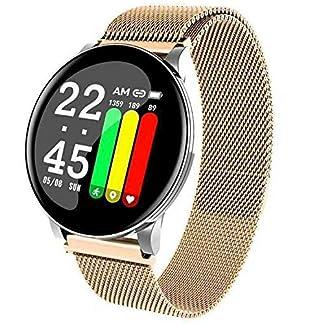 HQHOME–Fitness-Armband-Smartwatch-Wasserdicht-Smart-Watch-Fitness-Tracker-Uhr-Damen-Herren-Pulsuhr-Armbanduhr-Schrittzhler-Pulsmesser-SMS-Beachten-Sportuhr-passend-fr-Android-iOS