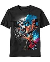 Marvel Team-Ups Avengers Crew Captain Black T-Shirt