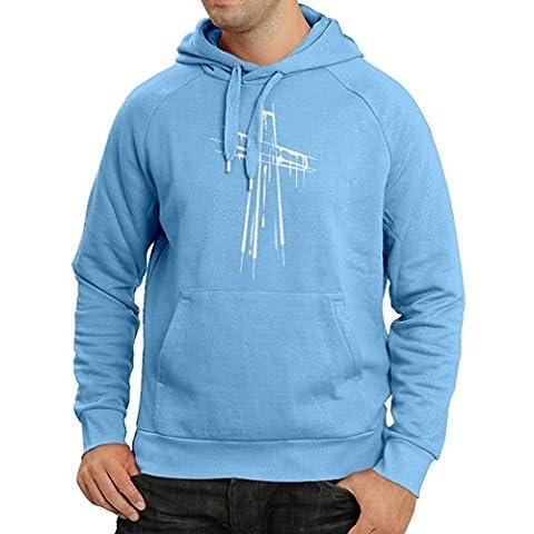 Kapuzenpullover Beunruhigtes Kreuz - Eeligiöse Geschenke, Christliches Kleid (XX-Large Blau