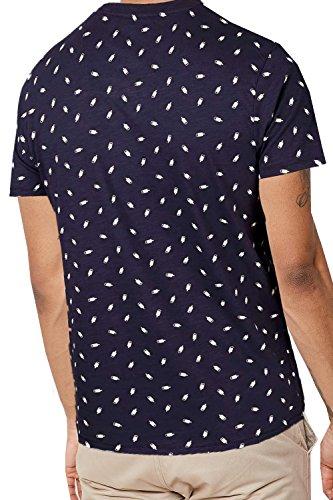 Threadbare Herren Blusen T-Shirt blau blau WestPort - Navy