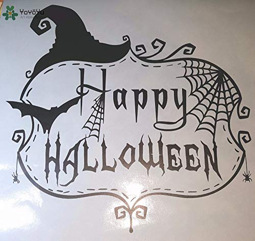 zaosan Wandaufkleber Vinyl Wall Decal Halloween Überraschung Happy Holiday Wohnzimmer Dekoration Papier Sticker Modern Festival 42x40cm