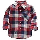 BOZEVON Jungen Hemden Baumwolle Plaid Tops - Classics Plaid Hemden Langarm Sweat Shirt für Jungen
