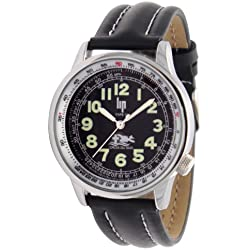 LIP Croix Du Sud Men's Watch 1840122 With Black Leather Strap