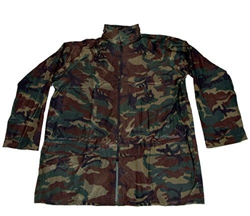 IWEA Camouflage Regenjacke Regenmantel Outdoor Funktionsjacke Wasserdicht mit Kapuze in Tarnfarben IW039 Waldgrün