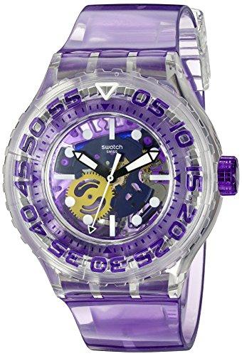 Swatch SUUK106 - Orologio da polso Unisex, Plastica, colore: Viola