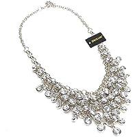 Collana da Donna Lungo con Pendente Diamante Luminoso Regalo Matrimonio