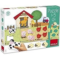 Goula Puzzle de madera infantil para aprender a contar del 1-5 - Peluches y Puzzles precios baratos