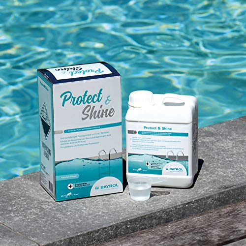BAYROL Protect y Shine Pool Cuidado, Color Blanco, 14 x 10,5 x 20 cm