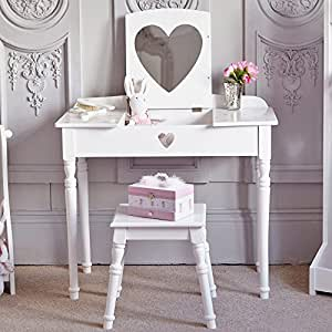Great little trading company white maisie dressing table - Amazon bedroom chairs and stools ...