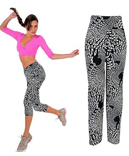 Smile YKK Pantalon Taille Haute Femme Legging Sculptant Physique Yoga Jogging Casual Elastique #F