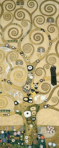 ndbild Deco Glass Gustav Klimt Der Lebensbaum. Detail, Werkvorlage zum Stocletfries. Botanik Bäume Malerei Gelb A2HU (Float Dekorationen Ideen)