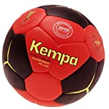 Kempa Handball schwarz/rot IHF Siegel, DHB Logo Größe 1 + Ballpumpe